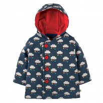 Frugi Rain Clouds Button Up Jacket