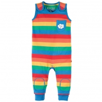 Frugi Rainbow Stripe Kneepatch Dungarees