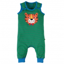 Frugi Tiger Applique Kneepatch Dungarees