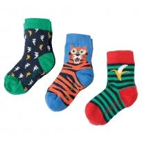 Frugi Tiger Rock My Socks 3-Pack