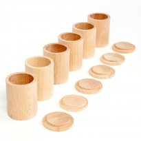 Grapat 6 Natural Cups with Lids