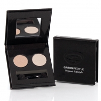 Green People Illuminating Eye Duo Pearl and Satin Pink