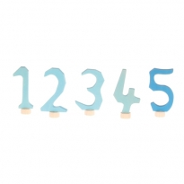 Grimm's Decorative Numbers Set 1-5 - Blue