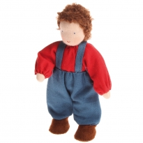 Grimm's Brown Haired Boy Doll