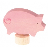 Grimm's Pink Pig Decorative Figure