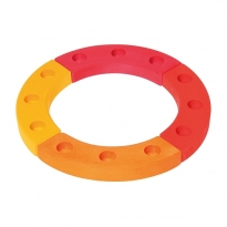Grimm's 12-Hole Yellow-Orange-Red Wooden Ring