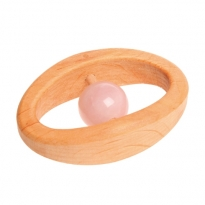 Grimm's Rose Quartz Baby Rattle