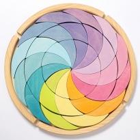 Grimm's Pastel Color Wheel Building Set