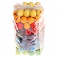 Grimm's 120 Small Coloured Beads 12mm