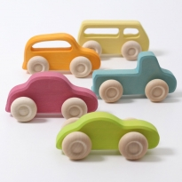 Grimm's Slim Wooden Cars Set
