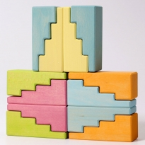 Grimm's Pastel Stepped Roofs