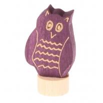 Grimm's Purple Eagle Owl Decorative Figure