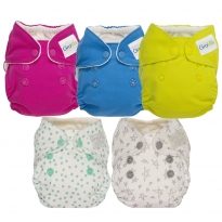 GroVia Newborn AIO Nappy - 5 Pack