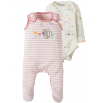 My First Frugi Pink Mouse Outfit