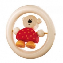 Haba Bear in the Ring Clutch & Teething Toy
