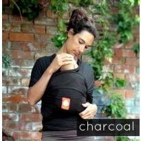 Hana Organic Baby Wrap- Shorty-Charcoal