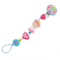 Haba Heart Princess Pacifier Chain