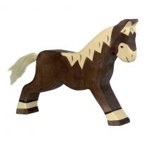 Holztiger Dark Brown Running Horse