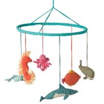 Hoppa Turquoise Fish Mobile