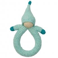 Hoppa Blue Doll Crochet Rattle