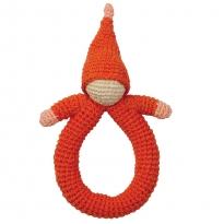 Hoppa Pink Doll Crochet Rattle
