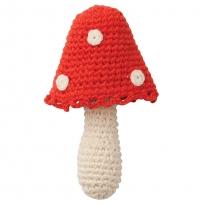 Hoppa Mushroom Crochet Rattle