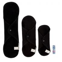 Imse Vimse Cloth Pad Starter Kit + Tampon - Black