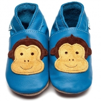 Inch Blue Cheeky Monkey Blue Shoes
