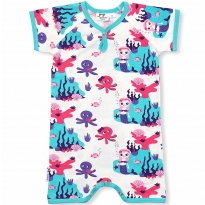 JNY Mermaid Shortie Romper