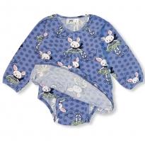 JNY Skating Bunny LS Body Dress