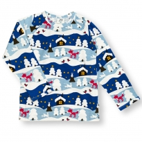 JNY Snowy Cottage LS Shirt