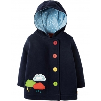 Frugi Rain Clouds Cosy Button Up Jacket
