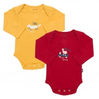 Kite 2 Pack Animal Bodysuit (Red)