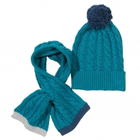 Kite Blue Hat and Scarf Set