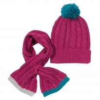 Kite Pink Hat and Scarf Set