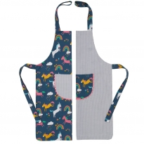 Kite Reversible Apron - Unicorn/Stripe