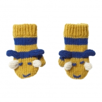 Piccalilly Knitted Mittens - Bumblebee