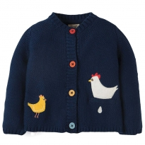 Frugi Chickens Cuddly Knitted Cardigan