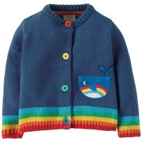 Frugi Whale Little Happy Day Cardigan
