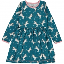 Maxomorra Unicorn Dreams LS Spin Dress