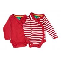 LGR Long Sleeve Babywrap x 2 - Red