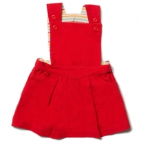 LGR Red Pinafore Dress