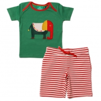 LGR Starry Eyed Elephant Applique T-shirt & Shorts