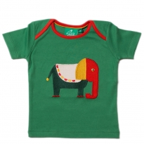 LGR Starry Eyed Elephant Applique Top