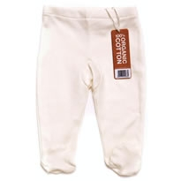 LGR Natural Footed Baby Trousers