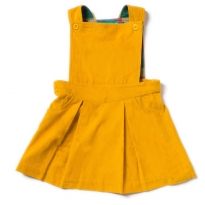 LGR Gold Cord Pinafore Dress