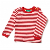 LGR Pointelle Red Stripe Long Sleeve Tee