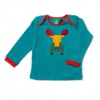 LGR Rainbow Moose Applique Long Sleeve Tee
