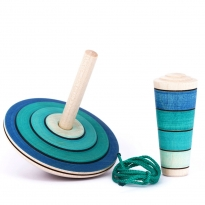 Mader My First Spinning Top With Starter - Blue