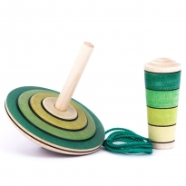 Mader My First Spinning Top With Starter - Green